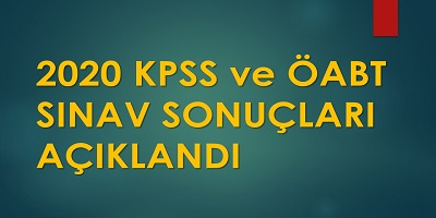 2020 KPSS Sonuçları Açıklandı!