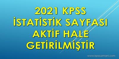 2021 İstatistik Sayfası Aktif Hale Getirilmiştir